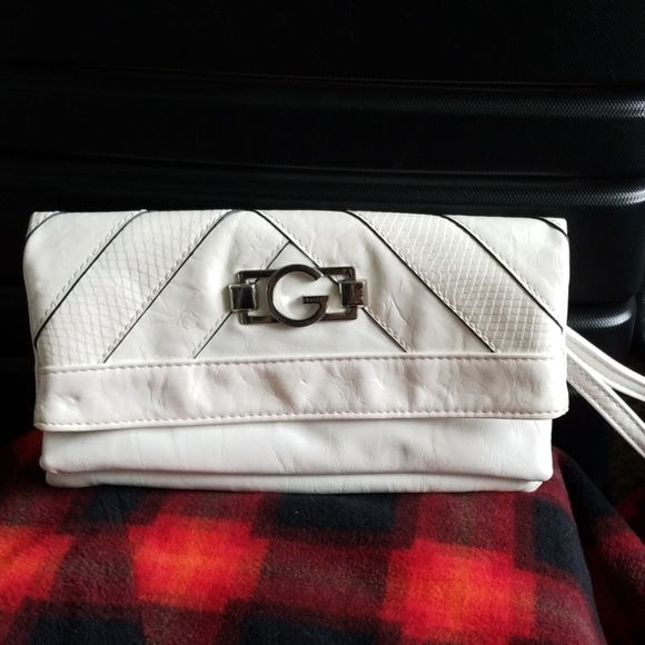 G by Guess Handbags - White GUESS clutch wallet purse